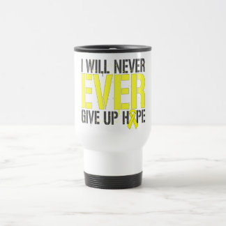 Osteosarcoma I Will Never Ever Give Up Hope 15 Oz Stainless Steel Travel Mug
