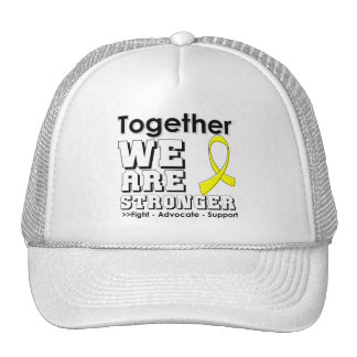 Osteosarcoma juntos somos más fuertes gorros bordados