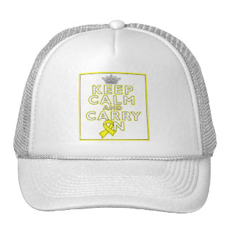 Osteosarcoma Keep Calm and Carry ON Trucker Hat