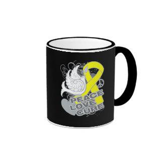 Osteosarcoma Peace Love Cure Coffee Mug
