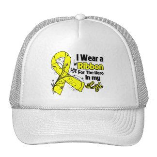 Osteosarcoma Ribbon Hero in My Life Hats