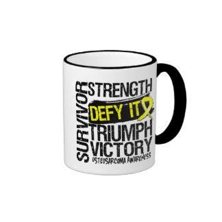 Osteosarcoma Survivor Defy It Ringer Coffee Mug