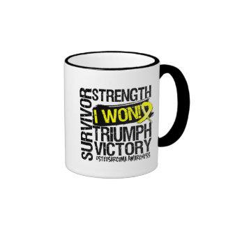 Osteosarcoma Survivor I Won Ringer Coffee Mug