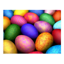 easter, eggs, bunny, digital, blasphemy, ryan, bliss, ostereier, Postcard with custom graphic design