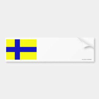 Östergötland flag (unofficial) bumper sticker