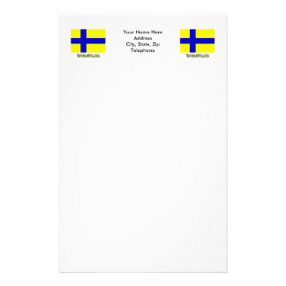Östergötland flag with name (unofficial) stationery