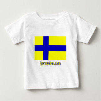 Östergötland flag with name (unofficial) tshirts