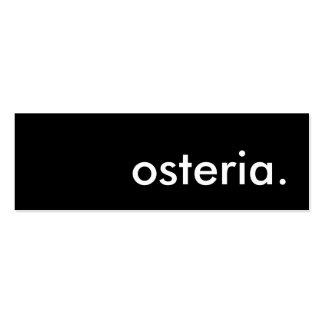 osteria. mini business card