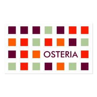 OSTERIA (mod squares) Business Card