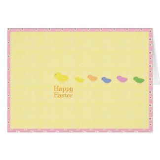 Osterkarte con polluelos horizontalmente tarjeta de felicitación