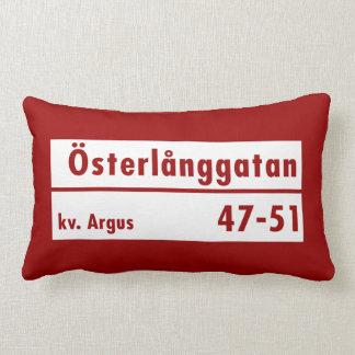 Österlånggatan, Estocolmo, placa de calle sueca Cojin