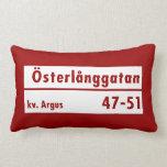 Österlånggatan, Stockholm, Swedish Street Sign Pillow
