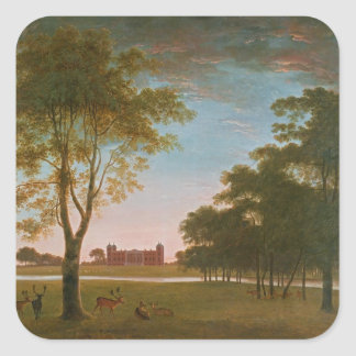 Osterley House and Park at Evening Square Sticker