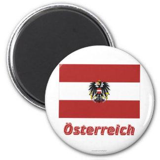 Österreich Dienstflagge mit deutschem Namen Magnet