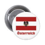 Österreich Dienstflagge mit deutschem Namen Pin