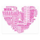 österreich en worten, pink tarjeta postal