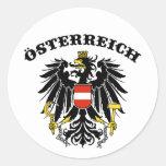 Osterreich Round Sticker