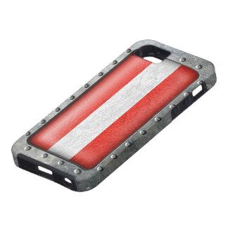 Österreichische Flagge de Industrielle iPhone 5 Case-Mate Fundas