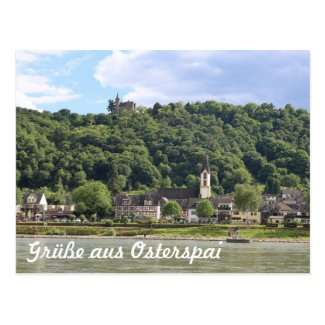 Osterspai Castle on the Rhine Postcard