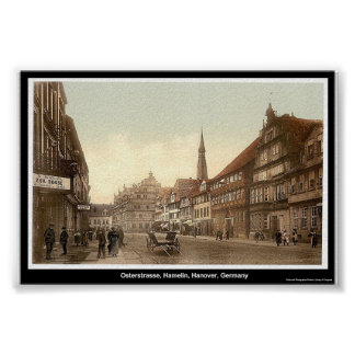 Osterstrasse, Hamelin, Hanover, Germany Poster