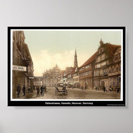 Osterstrasse, Hamelin, Hanover, Germany Posters