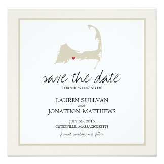 Osterville Cape Cod Wedding Save the Date Card