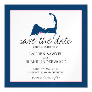 Osterville Cape Cod Wedding Save the Date Magnetic Card