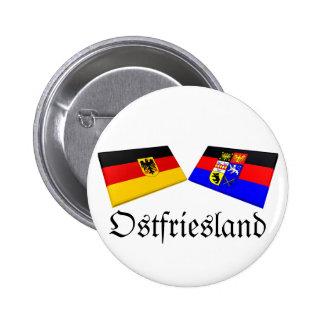 Ostfriesland, Germany Flag Tiles Pinback Buttons