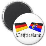 Ostfriesland, Germany Flag Tiles Fridge Magnets