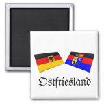 Ostfriesland, Germany Flag Tiles Refrigerator Magnet