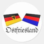 Ostfriesland, Germany Flag Tiles Round Sticker