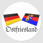 Ostfriesland, Germany Flag Tiles Stickers