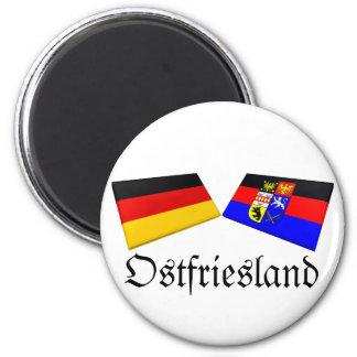 Ostfriesland, tejas de la bandera de Alemania Imanes