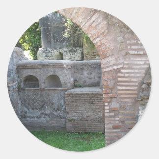 Ostia Antica - ciudad del puerto de Roma antigua Etiqueta Redonda