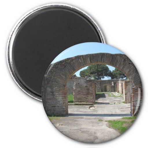 Ostia Antica, Italy - founded around 620 B.C Magnets