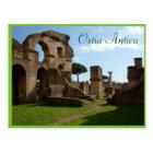 Ostia Antica, Rome with text Postcard