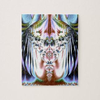 Ostra floral/diseño místico del fractal puzzle