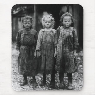 Ostra Shuckers, 1900s tempranos de la chica joven Mouse Pads
