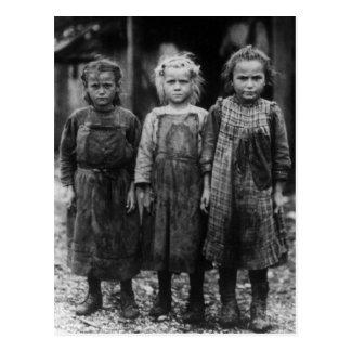 Ostra Shuckers, 1900s tempranos de la chica joven Postales