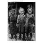 Ostra Shuckers, 1900s tempranos de la chica joven Tarjeta
