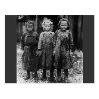 Ostra Shuckers, 1900s tempranos de la chica joven Tarjetas Postales