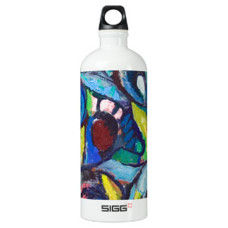 Ostracized Fishes (abstract expressionism) Aluminum Water Bottle