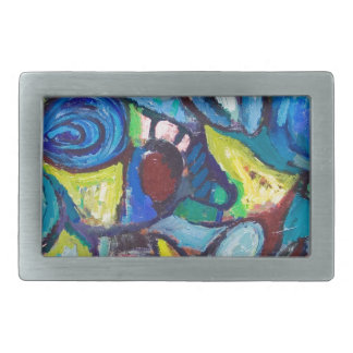 Ostracized Fishes (abstract expressionism) Belt Buckle