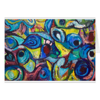 Ostracized Fishes (abstract expressionism) Card