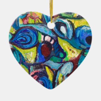 Ostracized Fishes (abstract expressionism) Ceramic Ornament