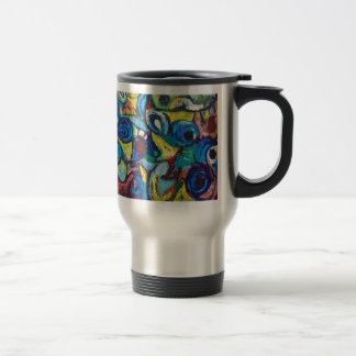 Ostracized Fishes (abstract expressionism) Coffee Mug