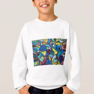 Ostracized Fishes (abstract expressionism) Sweatshirt