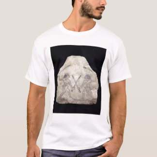 Ostrakon depicting two men fighting with T-Shirt