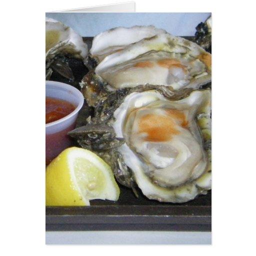 ostras del appalachicola tarjeta de felicitación