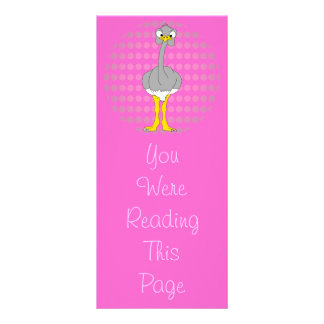 Ostrich Bookmark Template Rack Card Design